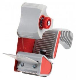 Podajnik do taśmy pakowej Office Depot, 50mmx100 m, szaro-czerwony