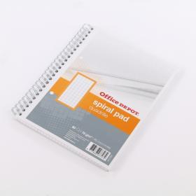 Kołonotatnik Office Depot, A5, w kratkę, 80 kartek, pomarańczowy