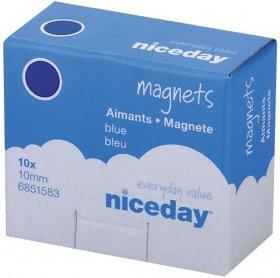 Magnesy Niceday, 10mm, 10 sztuk, niebieski