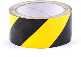 Taśma ostrzegawcza samoprzylepna Dalpo, 50mmx33m, żółto-czarny