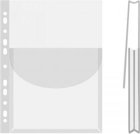 Koszulka krystaliczna Donau, z klapką, A4, 170µm, 1 sztuka,  transparentny