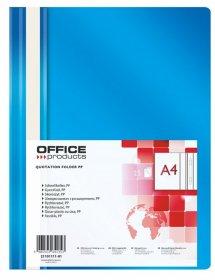 Skoroszyt plastikowy bez oczek Office Products, A4, do 200 kartek, niebieski