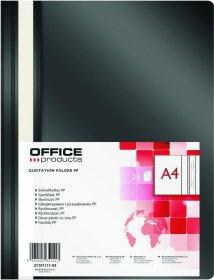 Skoroszyt plastikowy bez oczek Office Products, A4, do 200 kartek, czarny