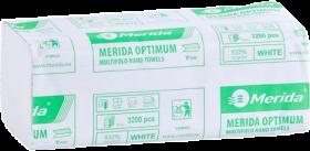 Ręcznik papierowy Merida, dwuwarstwowy, w składce ZZ, 160 składek, biały
