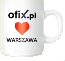 Kubek Ofix Loves Warszawa