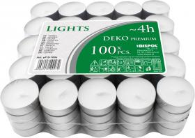 Podgrzewacz - świeczka Bispol, 100 sztuk, biały