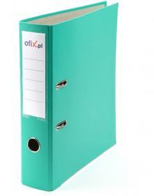 Segregator Ofix, A4, szerokość grzbietu 75mm, do 500 kartek, turkusowy
