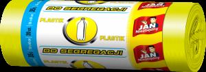 Worki na śmieci Jan Niezbędny, EP, 35l, 50x60cm, 20 sztuk, do segregacji plastiku, żółty