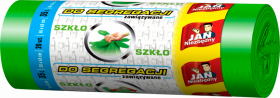 Worki na śmieci Jan Niezbędny, EP, 35l, 50x60cm, 20 sztuk, do segregacji szkła, zielony