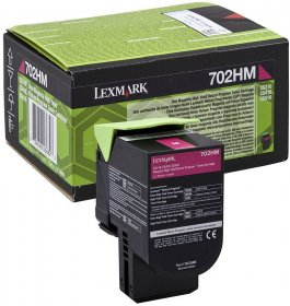 Toner Lexmark 702HM (70C2HM0), 3000 stron, magenta (purpurowy)