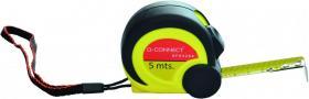 Miarka zwijana metalowa Q-Connect, z blokadą, 5m, żółto-czarny