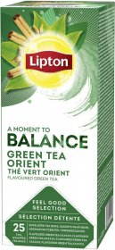 Herbata zielona orientalna w kopertach Lipton Green Tea Orient, 25 kopert