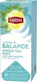 Herbata zielona smakowa w kopertach Lipton Classic Green Tea Mint, mięta, 25 sztuk