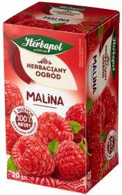 Herbata owocowa w torebkach Herbapol Herbaciany Ogród, malina, 20 sztuk x 3g