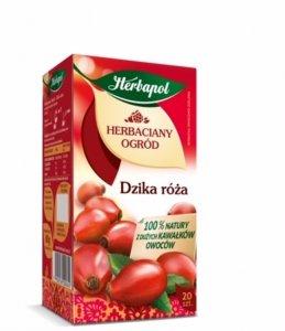 Herbata owocowa w torebkach Herbapol Herbaciany Ogród, dzika róża, 20 sztuk x 3.5g