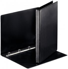 Segregator prezentacyjny Esselte, A4, szerokość grzbietu 30mm, 4 ringi, czarny