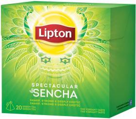 Herbata zielona w piramidkach Lipton Spectacular Sencha, 20 sztuk x 1.8g