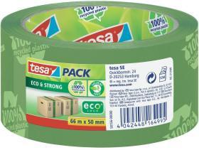 Taśma pakowa, Tesa, eco&strong, 50mm x 66m, zielony
