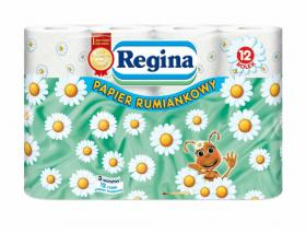 Papier toaletowy Regina Rumiankowy, 3-warstwowy, 12 rolek, biały