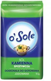 Sól kamienna jodowana o'Sole, 1kg