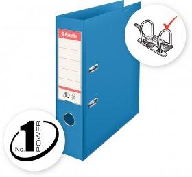 Segregator Esselte Vivida No.1 Power, A4, szerokość grzbietu 75mm, do 500 kartek, niebieski