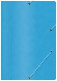 Teczka z gumką Office Products A4, 390g/m2, preszpanowa, niebieski