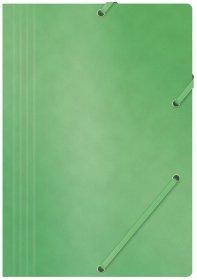 Teczka z gumką Office Products, A4, 390g/m2, preszpanowa, zielony