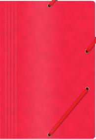 Teczka z gumką Office Products, A4, 390g/m2, preszpanowa, czerwony