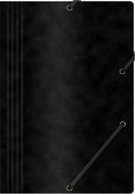 Teczka z gumką Office Products, A4, 390g/m2, preszpanowa, czarny