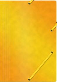 Teczka z gumką Office Products, A4, 390g/m2, preszpanowa, żółty