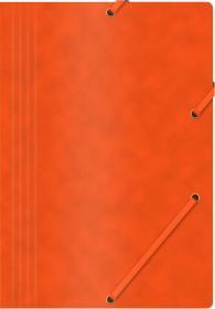 Teczka z gumką Office Products, A4, 390g/m2, preszpanowa, pomarańczowy