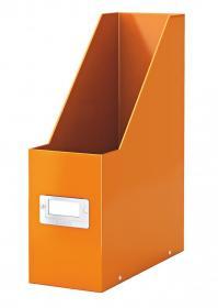 Pojemnik Leitz Wow Click&Store, A4, 95mm, do 950 kartek, pomarańczowy