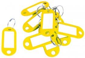 Zawieszki do kluczy D.Rect, plastik, 10 sztuk, żółty