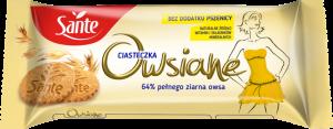 Ciasteczka owsiane Sante, naturalny, 138g