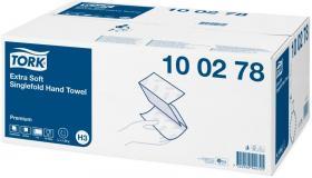 Ręcznik papierowy ekstra miękki Premium Tork, dwuwarstwowy, w składce ZZ, 15x200 składek, biały