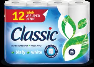 Papier toaletowy Velvet Classic, 2-warstwowy, 12 rolek, biały