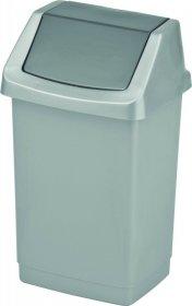 Kosz na śmieci Curver Click-It, z pokrywą, 50l, srebrny