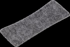 Wkład filcowy do gąbki magnetycznej 2x3, Slim, 10 sztuk, szary