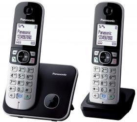 Telefon bezprzewodowy Panasonic KX-TG6812PDB, czarno-szary