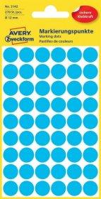 Etykiety Avery Zweckform, okrągłe, średnica 12mm, 270 sztuk, niebieski