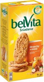 Ciastka zbożowe Belvita, orzechy i miód, 300g