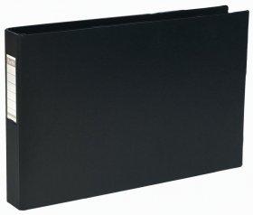Segregator Elba, A3, poziomy, szerokośc grzbietu 55mm, do 400 kartek, 4 ringi, czarny