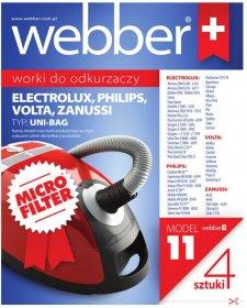 Worki do odkurzacza Webber 11 Uni-bagM, 4 sztuki, beżowy