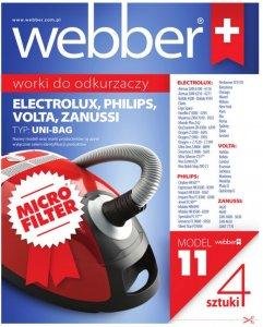 Worki do odkurzacza Webber 11 Uni-bagM, 4 sztuki