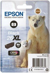Tusz Epson T2631 XL (C13T26314012), photo black (czarny foto)