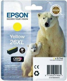 Tusz Epson T2634 (C13T26344010), yellow (żółty)