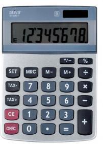 Kalkulator biurowy Ativa AT-812T, 8 cyfr, srebrny