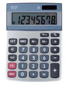 Kalkulator biurowy Ativa, AT-812E, 8 cyfr, srebrny