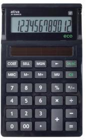 Kalkulator biurowy Ativa AT-830Eco/305Eco, 12 cyfr, czarny