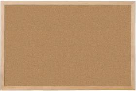 Tablica korkowa Niceday, w ramie drewnianej, 90x120cm, brązowy